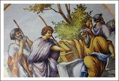 Grande Piatto Napoli mollica Battaglia maiolica epoca 1850 ! istoriato Ginori