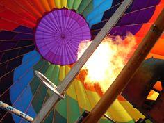 Inside the balloon