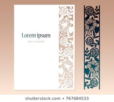 Card with openwork floral border and space for text. Laser cutting template for greeting cards, envelopes, invitations, decorative elements. Cricut Invitations, Space Text, Cricut Tutorials, Cricut Ideas, Design Maker, Photoshop, Silhouette Portrait, Floral Border, Diy Cards