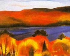Georgia O'Keeffe   Lake George Autumn, 1927