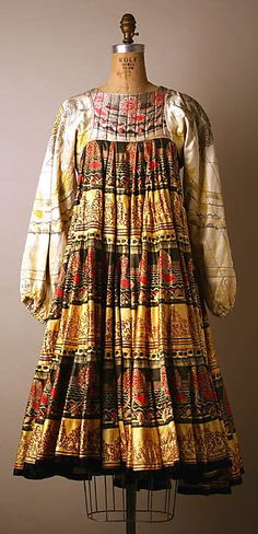 Multicolor print silk Dress, Zandra Rhodes, 1968–69