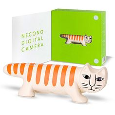 Necono Digital Cat Camera    (yes, this is a camera. yes, it's a cat. yes, the eyes are the lens. yes, it's tiny. yes, it makes videos too and yes, it's awesome)