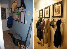 Practical tips for organizing mud rooms & entryways