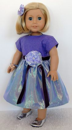 American Girl 18 inch Doll Clothing Purple by TwirlyDollDesign, $26.99