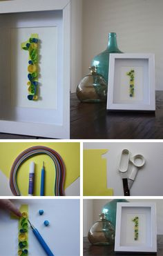Paper Quilling Numbers in Gifts and presents for babies, kids and adults parties such as celebrations, birthdays, anniversaries or dinners
