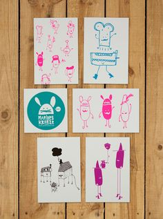Postcards set of 5 - Marloes Kroeze - BijzonderMOOI* Dutch design online