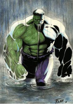 #Hulk #Fan #Art. (Hulk) By:Airaf-illustrator. ÅWESOMENESS!!!™ ÅÅÅ+