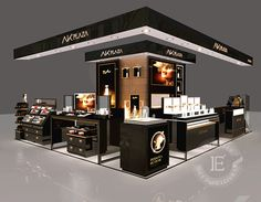 High-end Interior Design with Display Showcase For Cosmetic Shop