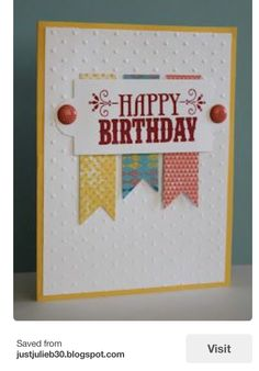 simple birthday cards stampin up Simple Birthday Cards, Bday Cards, Handmade Birthday Cards, Greeting Cards Handmade, Easy Handmade Cards, Card Making Inspiration, Making Ideas, Quick Cards, Card Sketches
