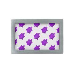Purple Turtles Pattern Belt Buckle