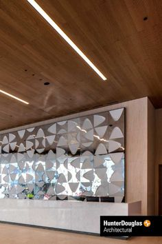 Have you seen our Veneered Wooden ceiling panels in Southbank, London (UK)? Baffle Ceiling, Open Ceiling, Metal Ceiling, Ceiling Panels, Ceiling Tiles, Douglas Wood, Wood Wall Tiles, Wood Grill, Tile Panels