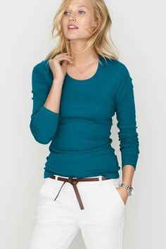 Buy Scoop Neck Long Sleeve T-Shirt from the Next UK online shop