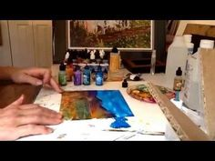 Alcohol inks, trees and foliage - YouTube. Teri Jones lets us see some of her amazing alcohol ink technique. It's her first video. Hope she does more & maybe lets us get a little better view of her piece as she works.