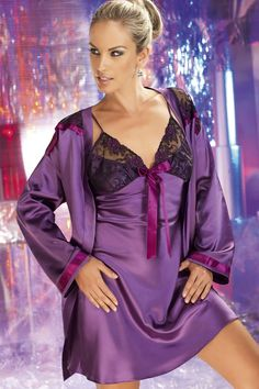 ec4c278e796b Irall Tiffany Nightdress Purple from Naughty Dorothy Buy Lingerie