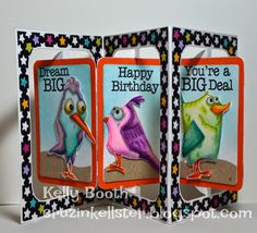 Lovin The Life I Color: Playing with the Tim Holtz Birds and the Rectangle Accordion Die Set By Karen Burniston; Apr 2015