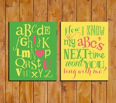 ABC I Love You Alphabet Print Set Nursery Alphabet by dodidoodles, $8.00