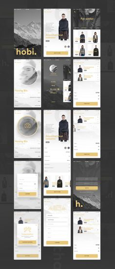 Today I'm glad to introduce an elegant #e-commerce app #UI. It has a unique, modern look and feel. It includes 14 screens and it's clean and simple using white space beautifully suit for any kind of mobile e-commerce business website including online fashion, clothing, and much more.