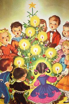 Modern Vintage Cottage Christmas / Image / Colors/ Vintage Retro Christmas Carols Music Book 1950s