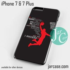Jordan History Phone case for iPhone 7 and 7 Plus