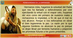 MISIONEROS DE LA PALABRA DIVINA: REFLEXIÓN - PERSEVEREMOS EN LA ESPERANZA