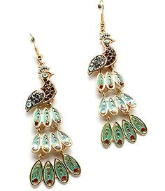 Peacock earrings- I don't know if I would actually wear them, but they are pretty cool.