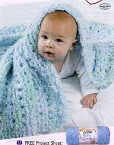 Angel Baby Blanket (easy knit baby blanket)