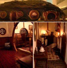 "Miniatura de la casa de Bilbo Bolsón, ""Bolsón Cerrado"", en la Comarca."