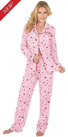 Wear your heart on her sleeve with our new Love Letter Pajamas   PajamaGram