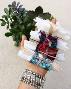 The Original Selenite wand Bundles three wands by thisthatandthese
