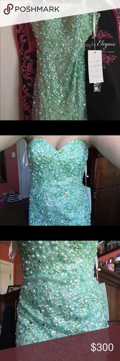Unique prom dress Never worn & tags are still attached. Size 4 but since it has a corset back it'll fit up or down a size or two. The bottoms has a thicker layers of tool (see pictures) so the dress won't rip when dancing in it. I do not wish to go any lower than my asking price because it was purchased for $600 & keep in mind poshmark does take a large amount of the sale. It's not Sherri Hill, it's actually Rachel Allen Sherri Hill Dresses Prom