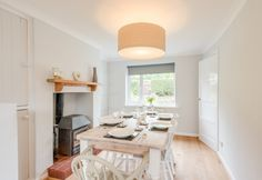 Dining room and woodburner