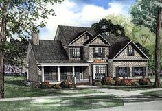 House Plan 62089 | Country Traditional Plan with 3248 Sq. Ft., 5 Bedrooms, 3 Bathrooms, 2 Car Garage
