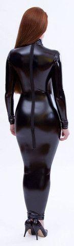 Latex Look PVC Hobble Dress