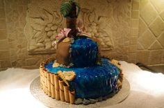 Tropical Themed Birthday Cake
