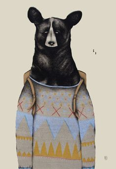 Bears by Sara Landeta, via Behance