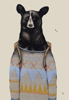 Bears in sweaters.
