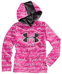 Under Armour Girls UA Big Logo Printed Armour Fleece Storm Hoody Under Armour Outfits, Nike Under Armour, Under Armour Girls, Under Armour Hoodie, Go Pink, Pink Power, Athletic Wear, Breast Cancer Awareness, Color Negra