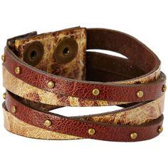 Leatherock B453 Bracelet ($39) ❤ liked on Polyvore featuring jewelry, bracelets, snap button jewelry, gold jewelry, studded jewelry, yellow gold jewelry and leatherock