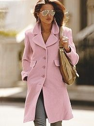Pink coat,Hooded Jacket, pink blazer, pink wool coat, winter ...