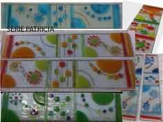 Guardas Y Revestimientos En Vitrofusión - $ 132,00 Fused Glass Plates, Stained Glass Crafts, Glass Garden, Wind Chimes, Glass Art, Diy And Crafts, Projects To Try, Decorative Boxes, Abstract