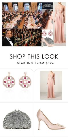 """""""Attending a Private dinner at The Royal Castle in honor of h r father,  Prince (Consort) Andrzej 60th birthday"""" by matylda-ofpoland ❤ liked on Polyvore featuring Epoque, Elie Saab and Manolo Blahnik"""