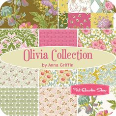 Olivia Collection Fat Quarter Bundle Anna Griffin Fabrics - Fat Quarter Shop