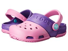 a231815e309f7 Crocs kids crocs kids electro ii clog toddler little kid party pink neon  purple