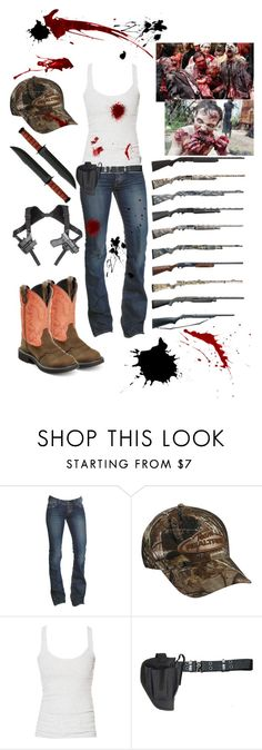 """""""Costume: zombie hunter"""" by justagirlfromthesouth ❤ liked on Polyvore featuring Gypsy, 1921, Realtree, Zara and Holster"""