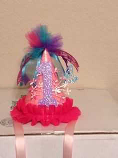 Mia's 1st Birthday party hat.