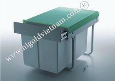 Thùng rác âm tủ 2 ngăn Higold | Sản phẩm phụ kiện bếp xinh, Phụ kiện tủ bếp, Phụ kiện bếp, Phukienbepxinh.com