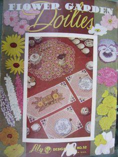 See Sally Sew-Patterns For Less - Flower Garden Doilies Crochet Designs Vintage Lily Design Book No. 52, $6.00 (http://stores.seesallysew.com/flower-garden-doilies-crochet-designs-vintage-lily-design-book-no-52/)