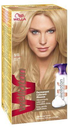 Permanentní pěnová barva na vlasy Wellaton 9/0 Extra světlá blond