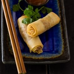 Chicken and Pineapple Spring Rolls