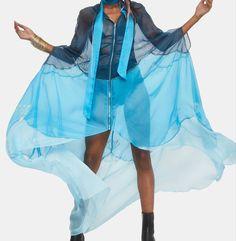 Wardrobe Closet, Blue Ombre, Cloak, Ballet Skirt, Skirts, Fashion, Moda, Linen Cupboard, Skirt